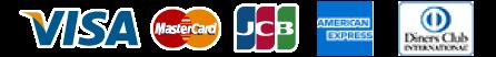 visa mastercard jcb amex dinersclub